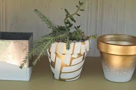 Painting Garden Pots Ideas Diy Spray Painted Pots
