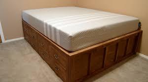 diy queen bed frame storage u2014 modern storage twin bed design