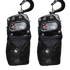 prox xt mch1tx2 30ft set of 2 1 ton manual chain stage hoists with