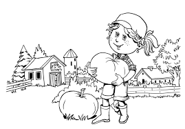 image gallery of fall leaves and pumpkins coloring pages