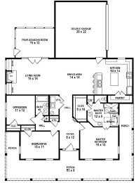 floor plans with porches 653881 3 bedroom 2 bath southern style house plan with wrap