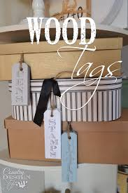 wood tags country design style