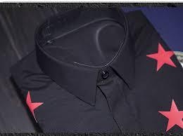 aliexpress com buy luxury men shirt brand design red stars