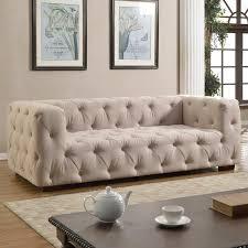 abadie tufted large chesterfield sofa u0026 reviews birch lane