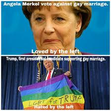 Gay Marriage Memes - angela merkel voted against gay marriage loved by the left trump