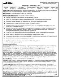 Sample Resume For Clerical Administrative by Storeroom Clerk Sample Resume Sample Cover Letter For Medical