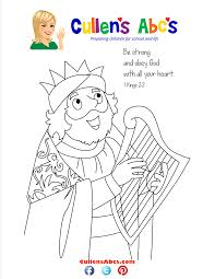 king david bible coloring pages glum me