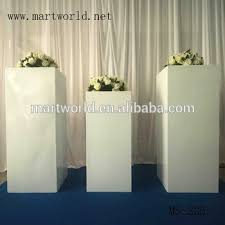 White Decorative Vase Square White Wedding Pillar Wedding Decoration Vase For Party