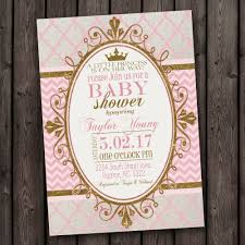 princess baby shower pink gold princess baby shower invitation pink and gold baby
