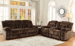 Microfiber Reclining Sofa Sets Reclining Loveseat With Console Microfiber 37 Recliner Brown