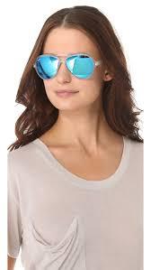 ray ban mirrored cats aviator sunglasses lyst