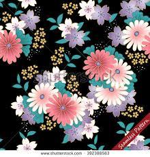 kimono repeat pattern japanese traditional floral kimono seamless pattern stock vector