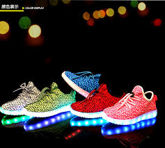 light up tennis shoes for boys girls kids led luminous light up sport shoes casual sportswear