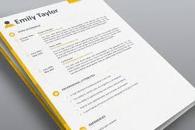 Classy Resume Template Elegant Resume Template