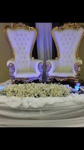 his and hers wedding chairs 6 ft throne chair baroque wedding groom throne