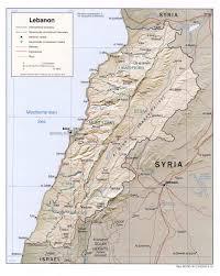 lebanon on the map maps of lebanon
