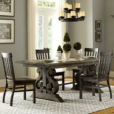 Pine Dining Room Sets Bellamy Wood Rectangular Dining Table In Deep Weathered Pine