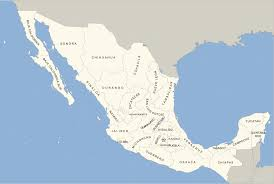 map of mexico with states file blank map of mexico with states names svg wikimedia commons
