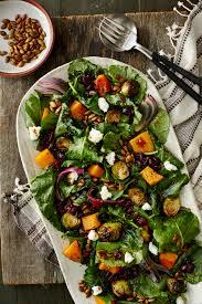 roasted autumn veggie salad with baby kale recipe myrecipes