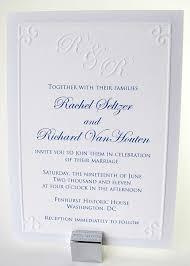 embossed wedding invitations embossed gate monogram wedding invitation digby digby