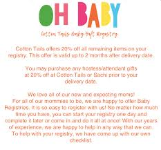 baby register baby registry cotton tails