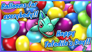 Totodiles Day Shiny has balloons for his party guests 🎈 by