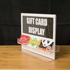 gift card display clear acrylic gift card holder and sign display sign display holder