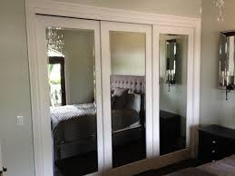 Bypass Closet Doors Mirrored Sliding Closet Doors Home Interior Design