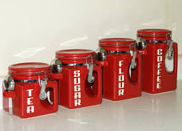 kitchen canisters set of 4 flour and sugar canister sets sets canisters marvelous glass flour