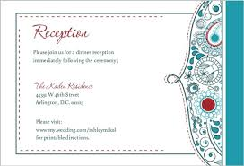 reception card whimsical reception card wedding enclosure cards