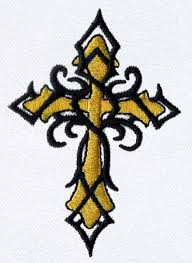 tatoo celtic cross embroidery design annthegran