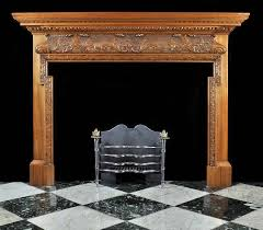 antique carved wood georgian fireplace mantel house ideas