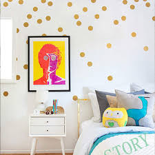 aliexpress com buy gold polka dots wall sticker nursery children