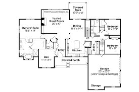 Ranch House Plans Manor Heart Associated Designst Level Style