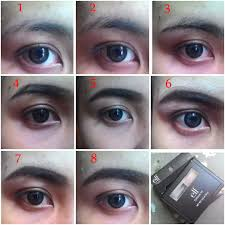 tutorial pakai pensil alis review e l f studio eyebrow kit dark cyanophyta s beauty diary