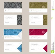 business card layout linear geometric pattern editable design