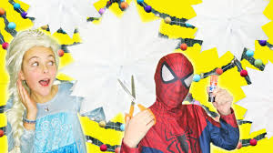 frozen elsa spider man hulk how to make paper star craft quick