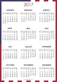 2017 us calendar printable united states calendar 2017 printable blank calendar design 2018