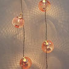 Gold Lights Metal String Lights Rose Gold Warm White Leds Battery