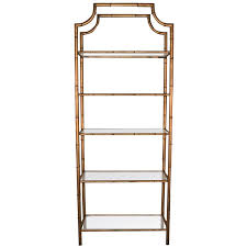 etagere metal regency gilt metal faux bamboo pagoda etagere at 1stdibs