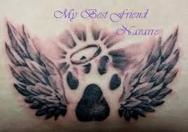 angel paw print tattoo tattoos book