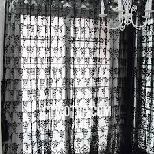 Modern Pattern Curtains Chic Unique Black Modern Floral Patterned Sheer Curtains