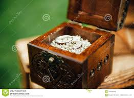 jewelry rings box images Wedding rings in vintage wooden ring box stock photo image of jpg