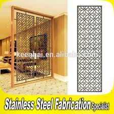 home decoration stainless steel modern metal chinese room divider