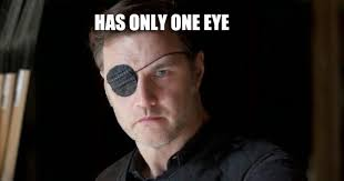 Wink Face Meme - funny meme mories the walking dead s governor one eye wink