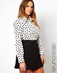 black button blouse 30 polka dot pieces for plus size babble