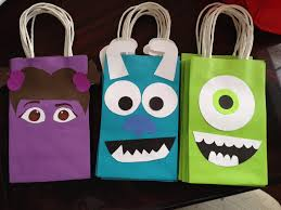 halloween monsters inc monster inc favor bags diy my creations pinterest favor bags