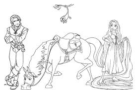 tangled disney horse coloring pages cartoon coloring pages of