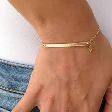 nameplate bracelet personalized bar bracelet gold nameplate