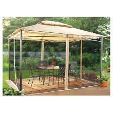 Garden Treasures Canopy Replacement by X Hardtop Gazebo Canada Chatham With Mosquito Netting Summerville